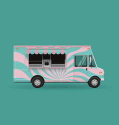 Food truck poster template vector
