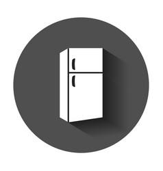 Fridge refrigerator icon in flat style frig vector