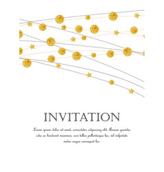 Gold polka dot decoration vector