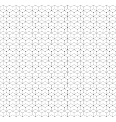 Hexagonal seamless pattern with lines and dots vector image