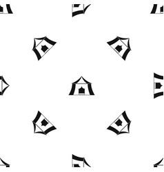 Hiking pavilion pattern seamless black vector