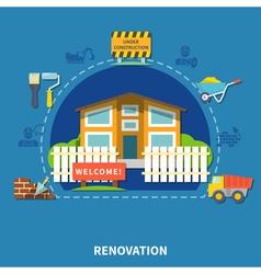 House Renewal Concept vector