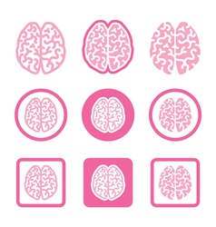 Human brain icons set - intelligence creativity c vector image
