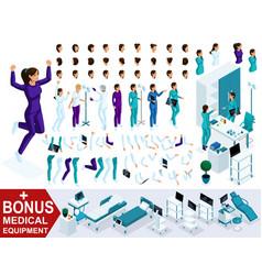 Isometrics create your nurse character vector