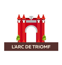 L arc de triomf travel to spain vector
