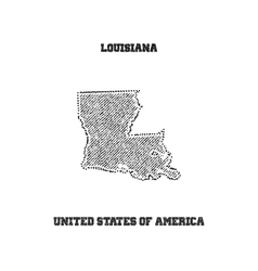 Label with map of louisiana vector