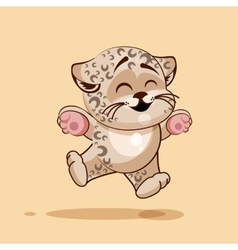 Leopard cub rejoices vector
