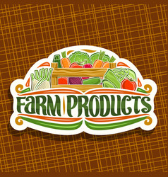 logo for farm products vector image