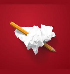 love heart symbol torn paper lumps pencil vector image