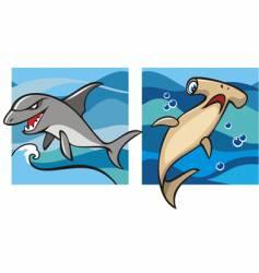 marine life sharks vector image