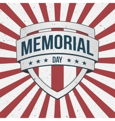 Memorial Day big patriotic Shield Sign vector
