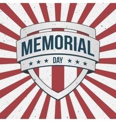 Memorial Day big patriotic Shield Sign vector image