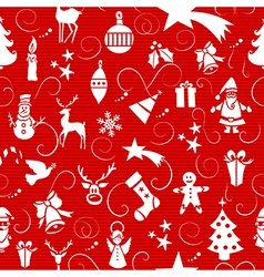 Merry Christmas icons seamless pattern vector image