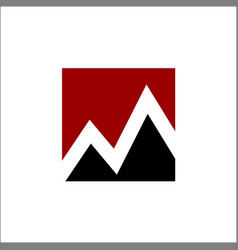 mountain with initials m logo vector image