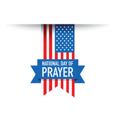 National day of pray use flag vector