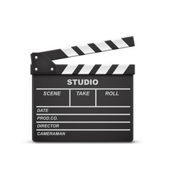 open movie clapperboard vector image
