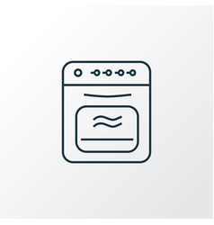 oven icon line symbol premium quality isolated vector image