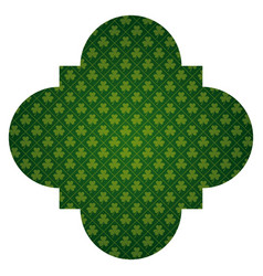 pattern shape label st patrick day clover vector image