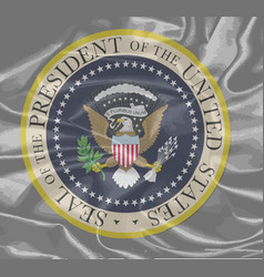 presidential seal on silk vector image
