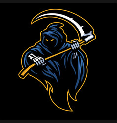 Reaper mascot with sickle vector
