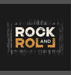 Rock and roll t-shirt and apparel design with vector