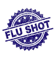 Scratched textured flu shot stamp seal vector