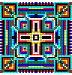 seamless mosaic of geometric ornament with colored vector image