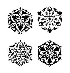 Set arabic oriental ornament vector