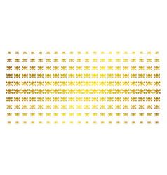 skull crossbones golden halftone pattern vector image