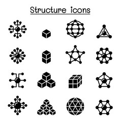 Structure icon set vector