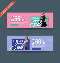 Stylish clearance sale web banners vector