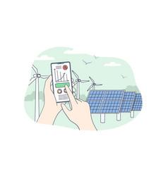 sustainable renewable energy concept vector image