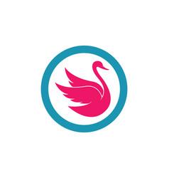 Swan logo template icon vector