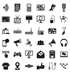 talking icons set simple style vector image