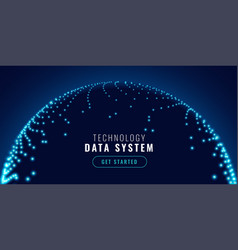 technology network connection concept banner vector image