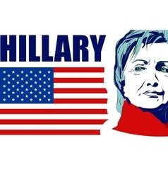 US Senator Hillary Rodham Clinton vector
