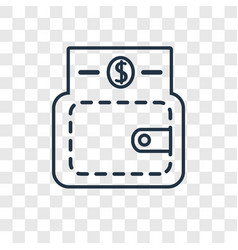 wallet concept linear icon isolated on vector image