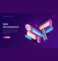 web development isometric concept vector image