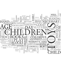 what toys are necessary for day care text word vector image