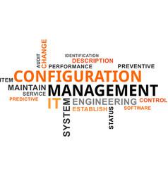 word cloud - configuration management vector image
