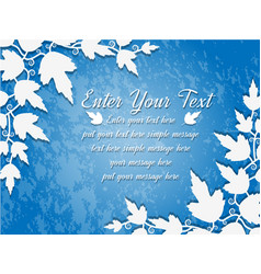 background leaves blue vector image