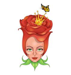 beautiful rose queen vector image