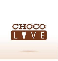 Cacao chocolate logo icon dessert food text vector