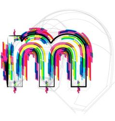 Colorful font - letter m vector