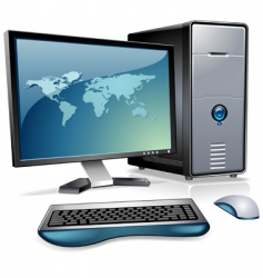 computer station vector image vector image