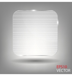 Realistic glass frame vector image vector image