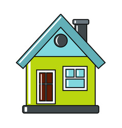 cartoon house icon on white background vector image