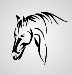 Horse Tribal vector image