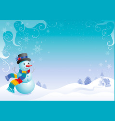 merry christmas and happy new year flayer frame vector image vector image