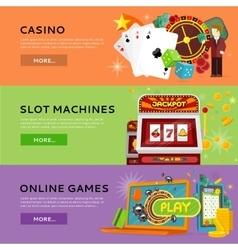 Set Of Gambling Banners In Flat Design vector image vector image